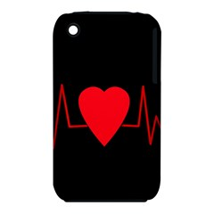 Hart bit Apple iPhone 3G/3GS Hardshell Case (PC+Silicone)