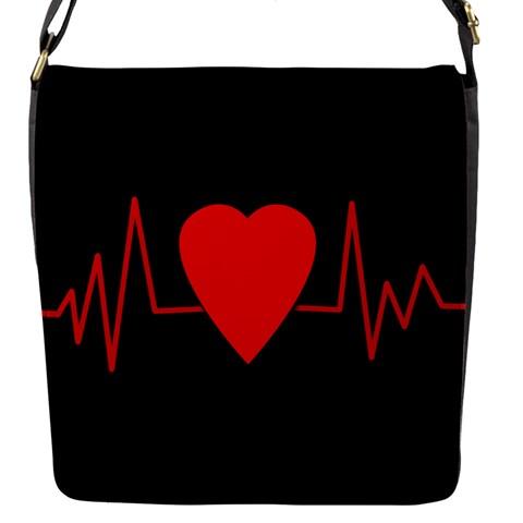 Hart bit Flap Messenger Bag (S)
