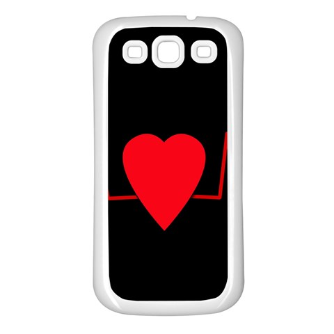 Hart bit Samsung Galaxy S3 Back Case (White)
