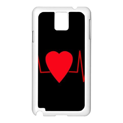 Hart bit Samsung Galaxy Note 3 N9005 Case (White)