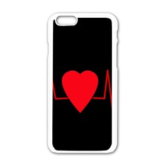 Hart bit Apple iPhone 6/6S White Enamel Case