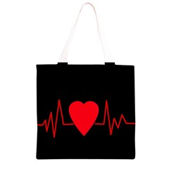 Hart bit Grocery Light Tote Bag