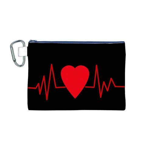Hart bit Canvas Cosmetic Bag (M)