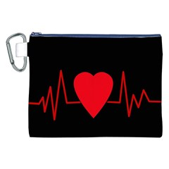 Hart bit Canvas Cosmetic Bag (XXL)