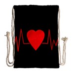 Hart bit Drawstring Bag (Large) Back