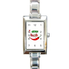 I am hot  Rectangle Italian Charm Watch