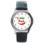 I am hot  Round Metal Watch Front