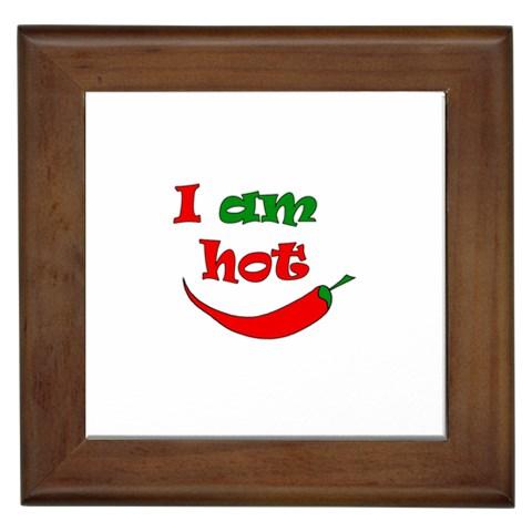 I am hot  Framed Tiles