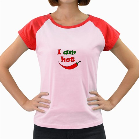 I am hot  Women s Cap Sleeve T-Shirt