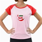 I am hot  Women s Cap Sleeve T-Shirt Front