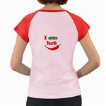 I am hot  Women s Cap Sleeve T-Shirt Back