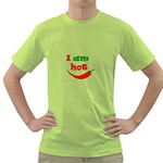 I am hot  Green T-Shirt Front