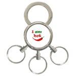 I am hot  3-Ring Key Chains Front