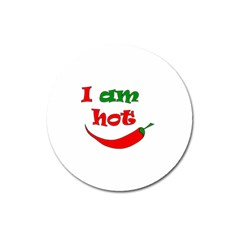 I Am Hot  Magnet 3  (round)