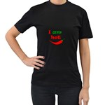 I am hot  Women s T-Shirt (Black) (Two Sided) Front