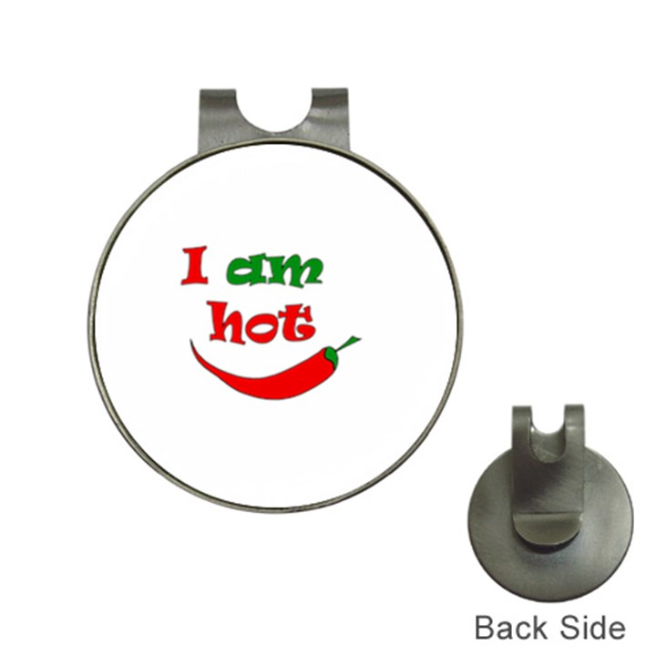 I am hot  Hat Clips with Golf Markers