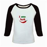 I am hot  Kids Baseball Jerseys Front