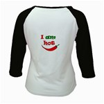 I am hot  Kids Baseball Jerseys Back