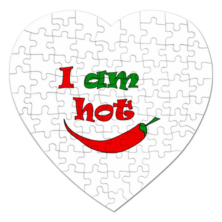 I am hot  Jigsaw Puzzle (Heart)