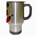 I am hot  Travel Mug (Silver Gray) Right