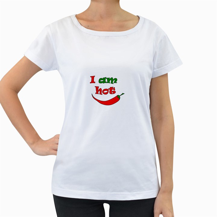 I am hot  Women s Loose-Fit T-Shirt (White)