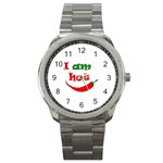 I am hot  Sport Metal Watch Front