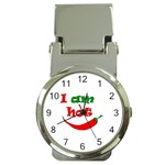 I am hot  Money Clip Watches Front