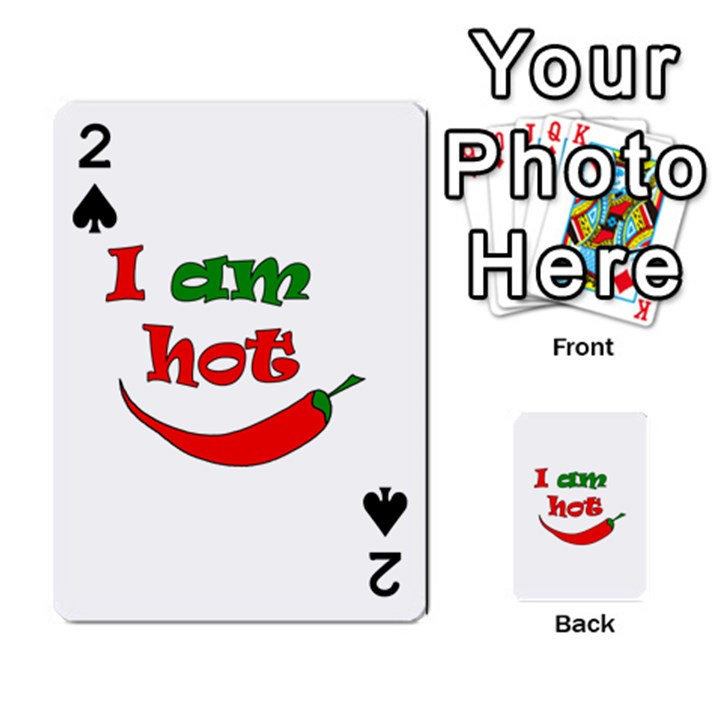 I am hot  Playing Cards 54 Designs