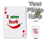 I am hot  Playing Cards 54 Designs  Front - DiamondJ