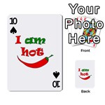 I am hot  Playing Cards 54 Designs  Front - Spade10