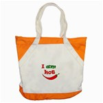 I am hot  Accent Tote Bag Front