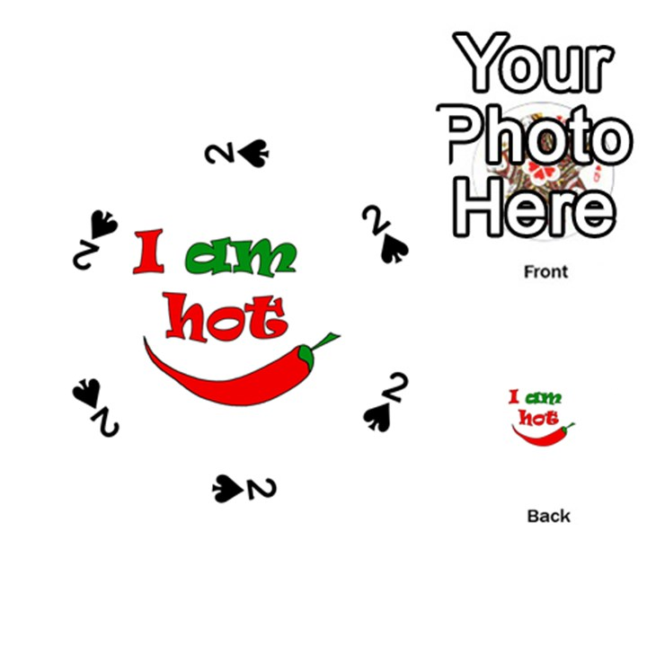 I am hot  Playing Cards 54 (Round)