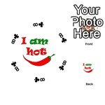I am hot  Playing Cards 54 (Round)  Front - Club8