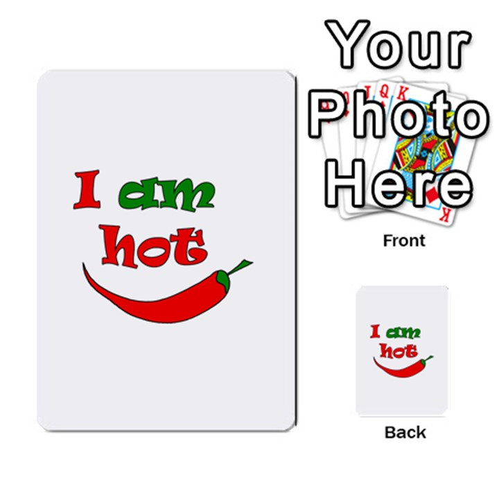 I am hot  Multi-purpose Cards (Rectangle)
