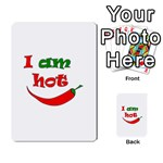 I am hot  Multi-purpose Cards (Rectangle)  Back 30
