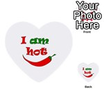 I am hot  Multi-purpose Cards (Heart)  Back 12