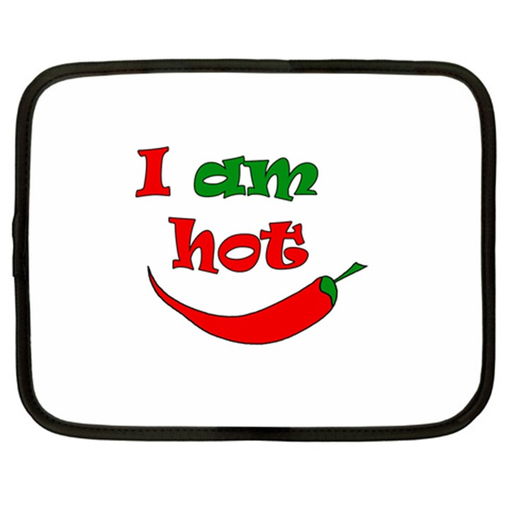 I am hot  Netbook Case (Large)