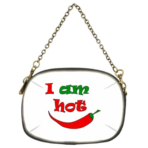 I am hot  Chain Purses (Two Sides)