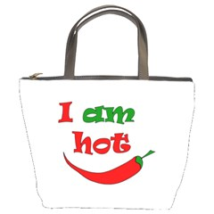 I Am Hot  Bucket Bags