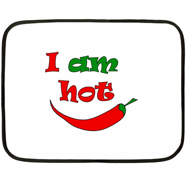 I am hot  Double Sided Fleece Blanket (Mini)