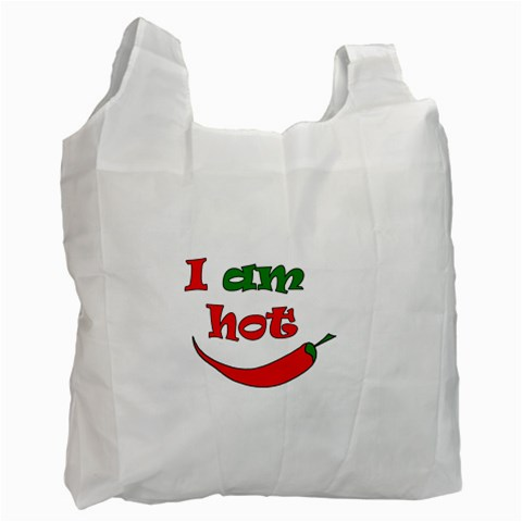 I am hot  Recycle Bag (One Side)