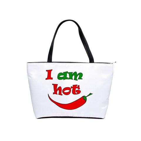 I am hot  Shoulder Handbags
