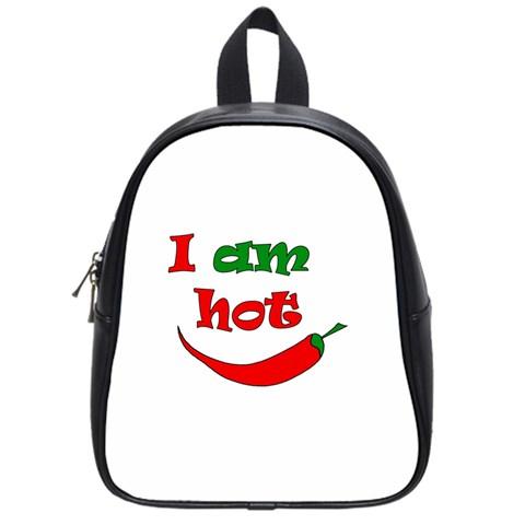 I am hot  School Bags (Small)