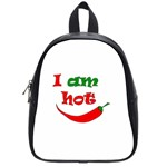 I am hot  School Bags (Small)  Front