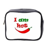 I am hot  Mini Toiletries Bag 2-Side Front