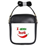 I am hot  Girls Sling Bags Front
