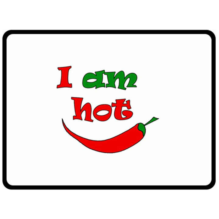 I am hot  Fleece Blanket (Large)