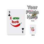 I am hot  Playing Cards 54 (Mini)  Front - Spade3