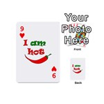 I am hot  Playing Cards 54 (Mini)  Front - Heart9
