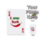 I am hot  Playing Cards 54 (Mini)  Front - DiamondQ